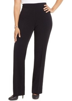 Charter Club Plus Size Pull-On Trousers, Only at Macy's