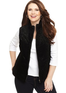 Charter Club Plus Size Reversible Faux-Wool Quilted Vest