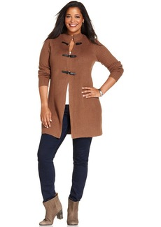 Charter Club Plus Size Ribbed Duster Cardigan