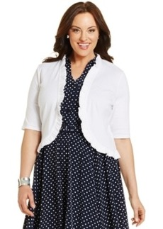 Charter Club Plus Size Ruffled Bolero