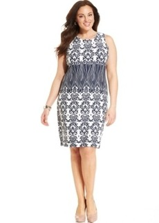 Charter Club Plus Size Sleeveless Printed Sheath Dress