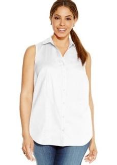 Charter Club Plus Size Sleeveless Shirt