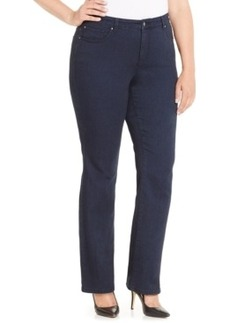 Charter Club Plus Size Slim-Leg Jeans, Indigo Blue Wash, Only at Macy's