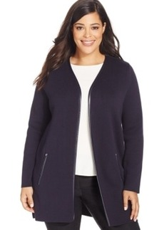Charter Club Plus Size Solid Open-Front Cardigan