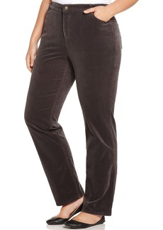 Charter Club Plus Size Straight-Leg Corduroy Pants