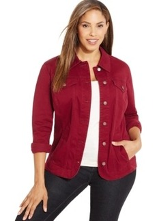 Charter Club Plus Size Stretch-Denim Jacket, Only at Macy's