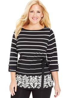 Charter Club Plus Size Striped Tunic
