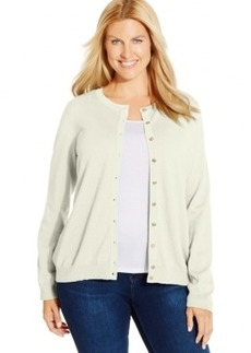 Charter Club Plus Size Textured Cardigan