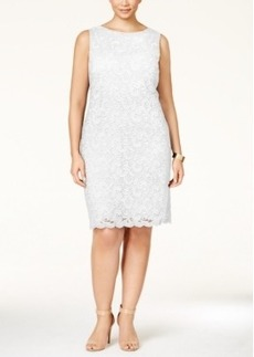Charter Club Plus Size Textured Lace Sheath Dress, Only at Macy's