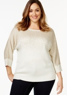 Charter Club Plus Size Three-Quarter-Sleeve Sweater, Only at Macy's