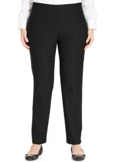 Charter Club Plus Size Tummy-Control Slim-Leg Pull-On Pants, Only at Macy's
