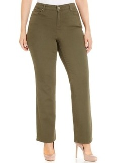 Charter Club Plus Size Tummy-Control Straight-Leg Jeans, Autumn Sage Wash, Only at Macy's