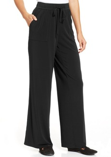 Charter Club Plus Size Wide-Leg Soft Pants