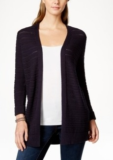 Charter Club Pointelle-Knit Open Cardigan, Only at Macy's