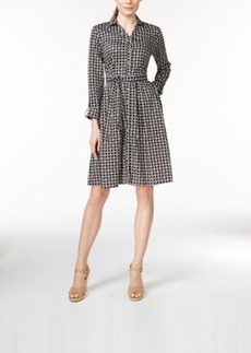 Charter Club Printed Belted Shirtdress, Iconic Print