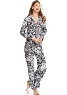 Charter Club Printed Notch Collar Top and Pajama Pants Set