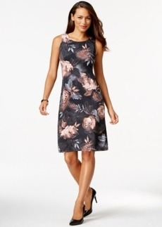 Charter Club Printed Sleeveless Sheath Dress, Only at Macy's