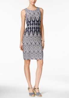 Charter Club Printed Sleeveless Shift Dress, Only at Macy's