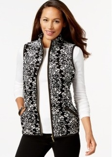 Charter Club Printed Velour Vest, Only at Macy's