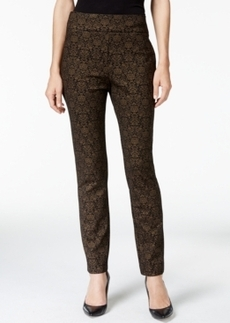 Charter Club Pull-On Ponte Pants, Foil Brocade Print