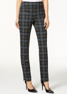 Charter Club Pull-On Ponte Pants, Plaid Print