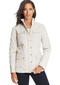 Charter Club Petite Quilted Barn Jacket