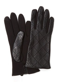 Charter Club Quilted Leather Gloves