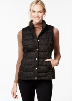Charter Club Quilted Metallic Vest, Only at Macy's