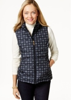 Charter Club Quilted Vest, Foulard Print