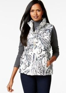 Charter Club Quilted Vest, Paisley Print