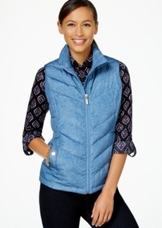 Charter Club Quilted Vest, Texture Print