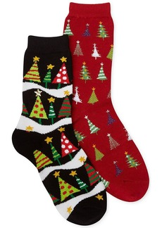 Charter Club Rhinestone Christmas Tree Socks