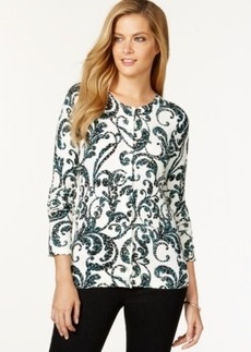 Charter Club Rhinestone-Embellished Cardigan, Only at Macy's