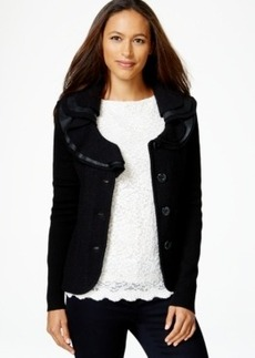 Charter Club Ruffle-Detail Sweater Blazer, Only at Macy's