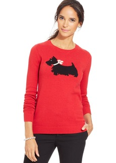 Charter Club Scotty Dog Print Sweater