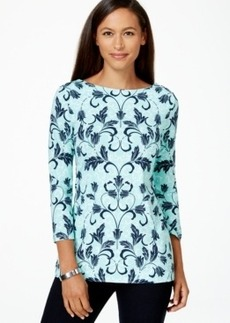 Charter Club Scroll Printed Top, Only at Macy's