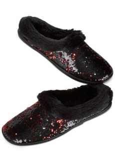 Charter Club Sequin Clog Memory Foam Slippers, Only at Macy's