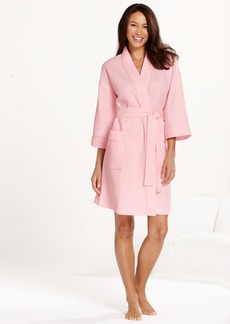 Charter Club Short Woven Waffle Robe