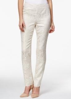 Charter Club Side-Zip Pants, Floral Foil Pattern