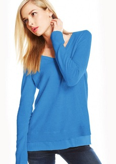 Charter Club Silk-Hem Cashmere Sweater