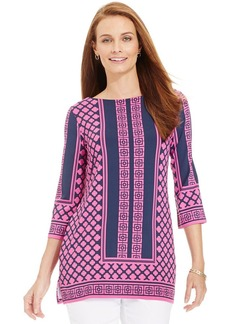Charter Club Silky Bi-Color Tunic