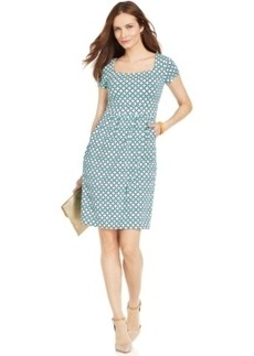 Charter Club Silky Printed A-Line Dress