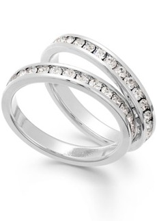 Charter Club Silver-Tone Crystal Ring Duo