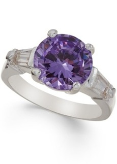 Charter Club Silver-Tone Purple Cubic Zirconia Ring