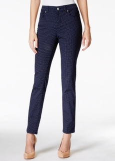 Charter Club Skinny Ankle Jeans, Micro Dot Print