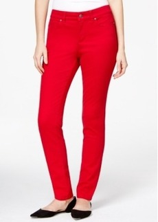 Charter Club Skinny Ankle Jeans, Red