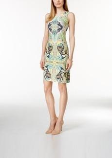 Charter Club Petite Sleeveless Paisley-Print Sheath Dress, Only at Macy's