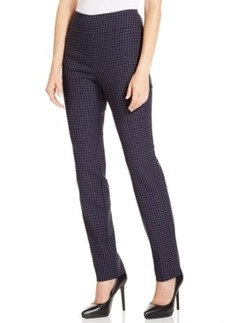Charter Club Slim Pull-On Gingham Pants, Only at Macy's