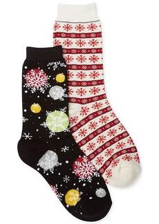 Charter Club Snowflake Print Christmas Socks