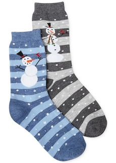 Charter Club Snowman Print Christmas Socks